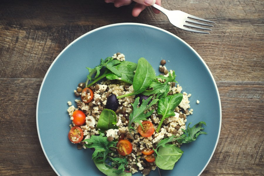 Lentil and Millet Mediterranean Salad