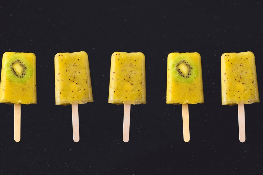 Kiwi and Pineapple Popsicles