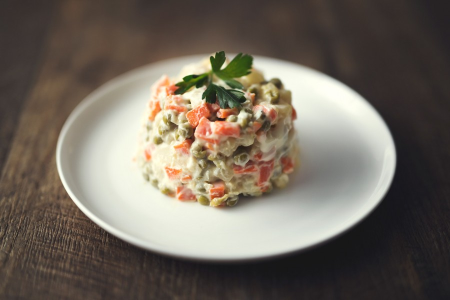 Romanian Potato Salad (Salata de Beouf) & Vegan Mayonnaise