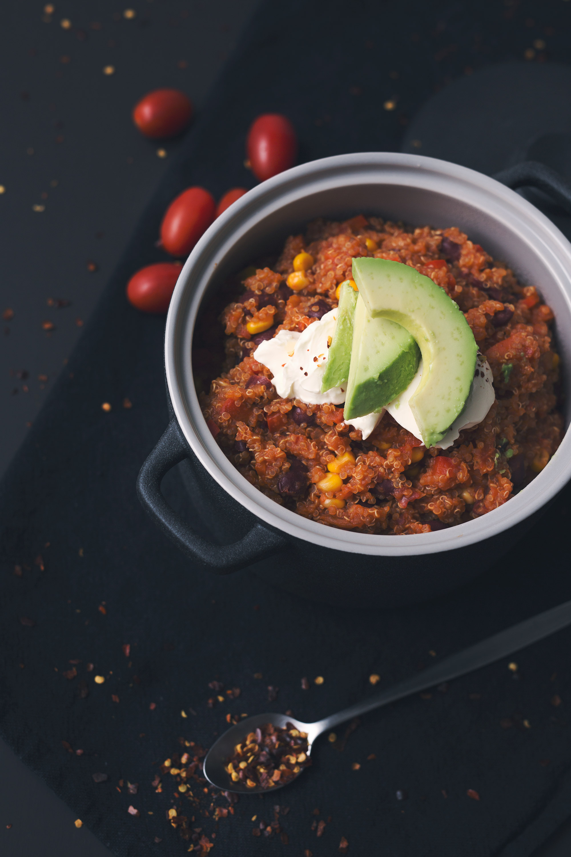 Mexican Quinoa with Kidney Beans