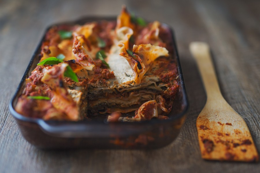 Vegan Tomato Vegetable Lasagne