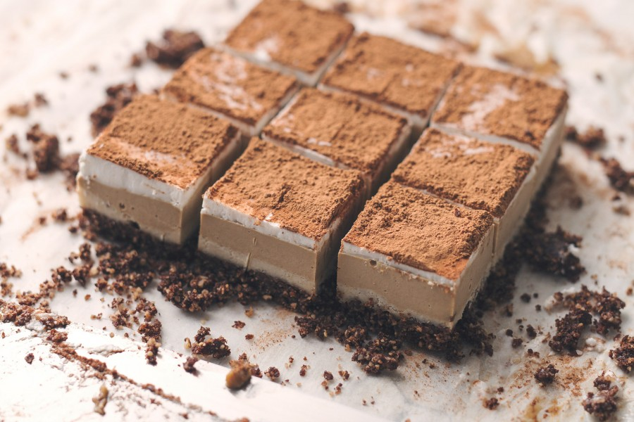 Vegan Coconut Mocha Slice