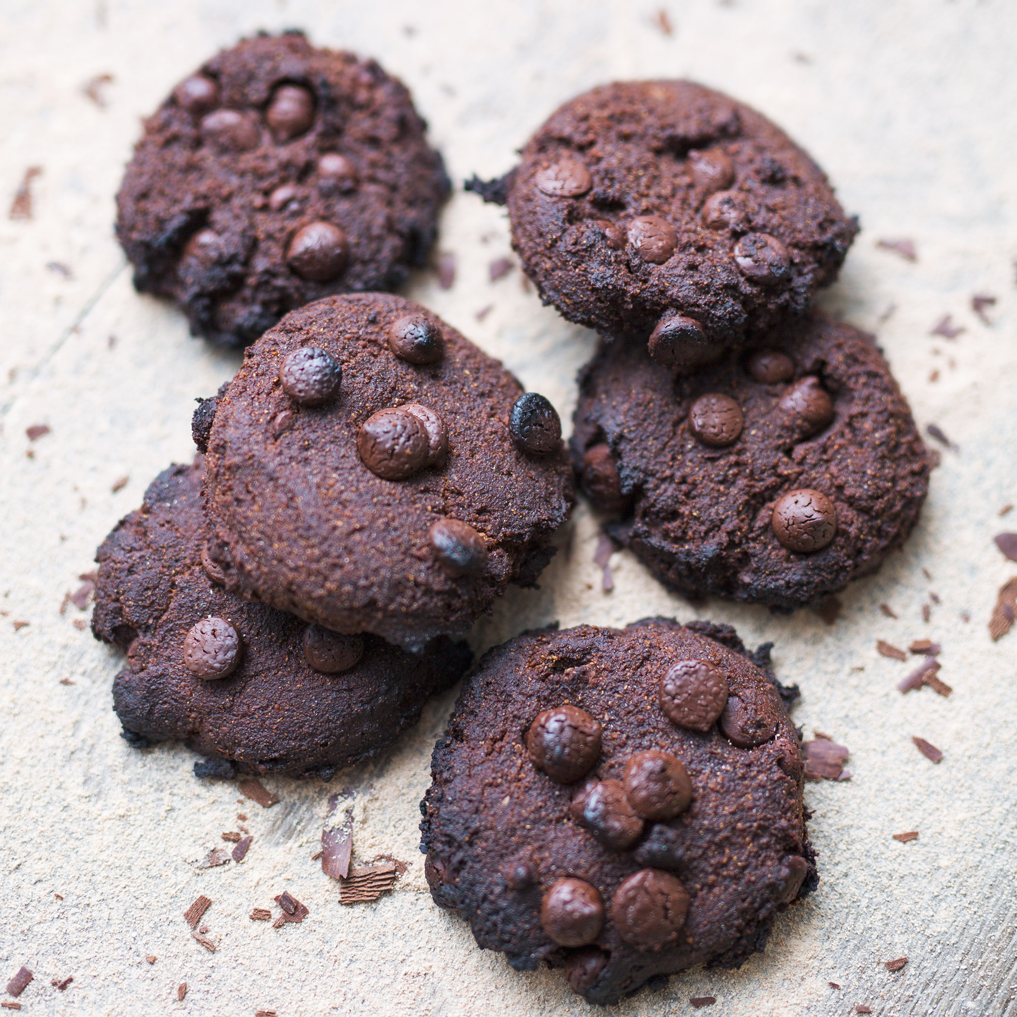 Vegan Double Choc Banana Flour Cookies