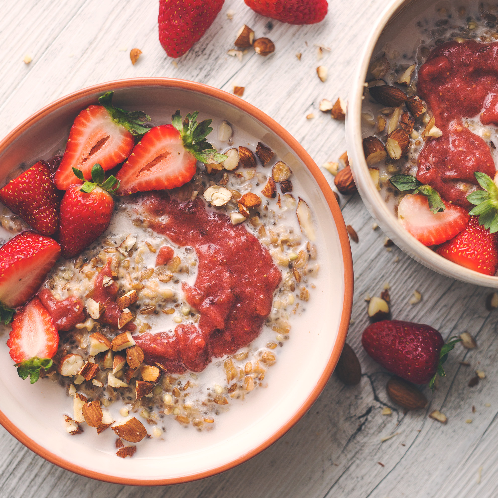 Four Grain Strawberry Ripple Porridge