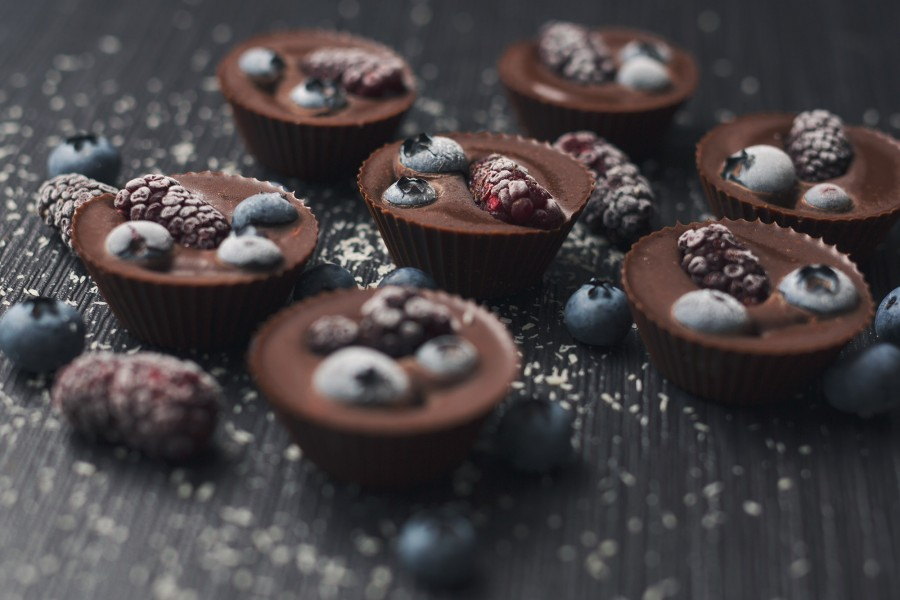 Berry Chocolate Cups