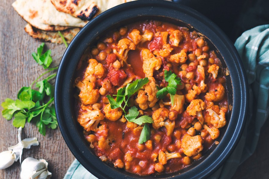 Cauliflower and Chickpea Tagine