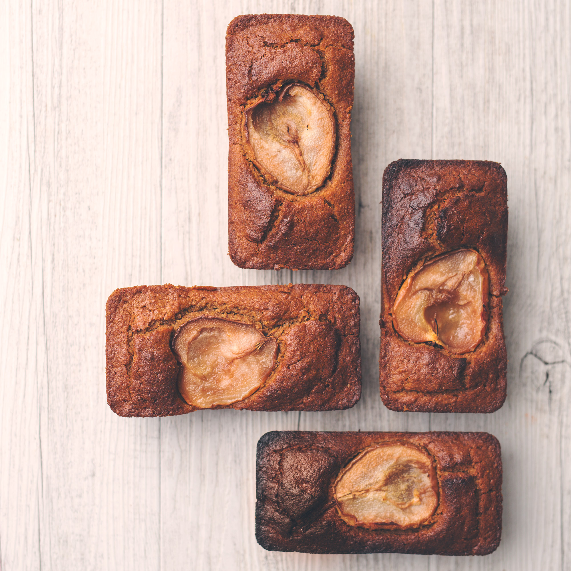 Mini Spelt Spiced Pear Loaves with Coconut Yogurt