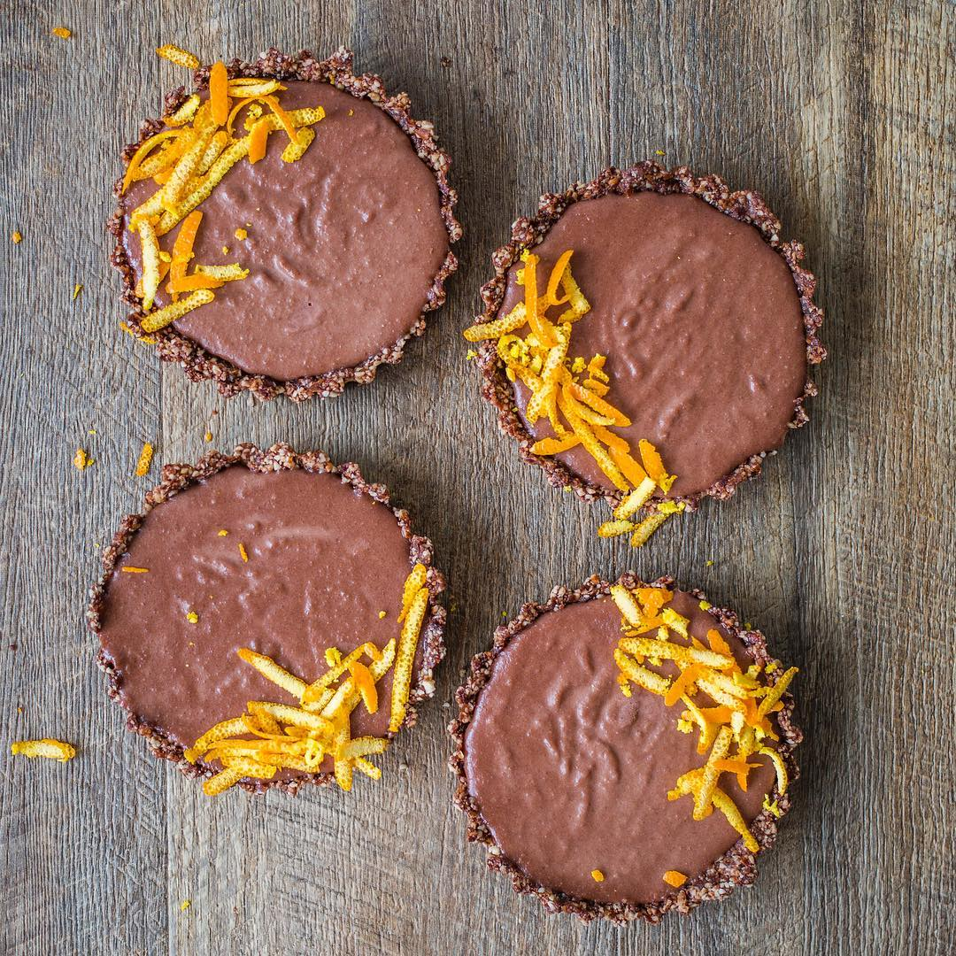 Raw Vegan Choc Orange Essential Oil Tarts