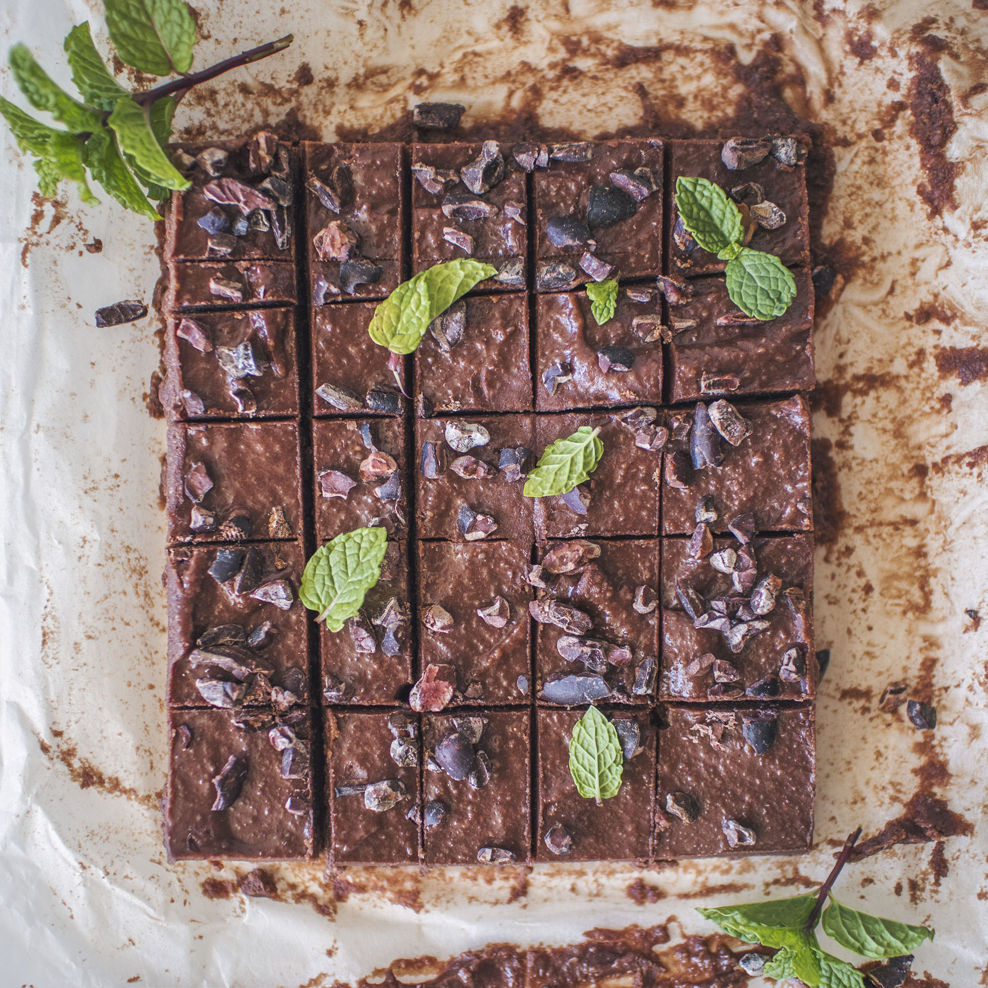 Vegan Christmas Chocolate Peppermint Fudge
