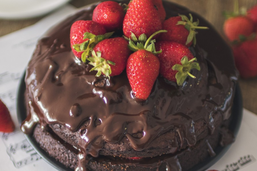 Vegan Chocolate Banana Avocado Cake with Chocolate Ganache