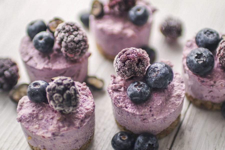Raw Vegan White Chocolate Berry Superfood Cheesecake
