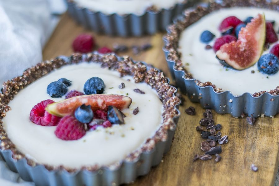 Vegan Chocolate & Vanilla Custard Tarts