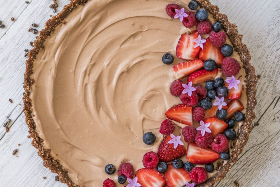 Raw Vegan Yogurt Chocolate Mousse Tart