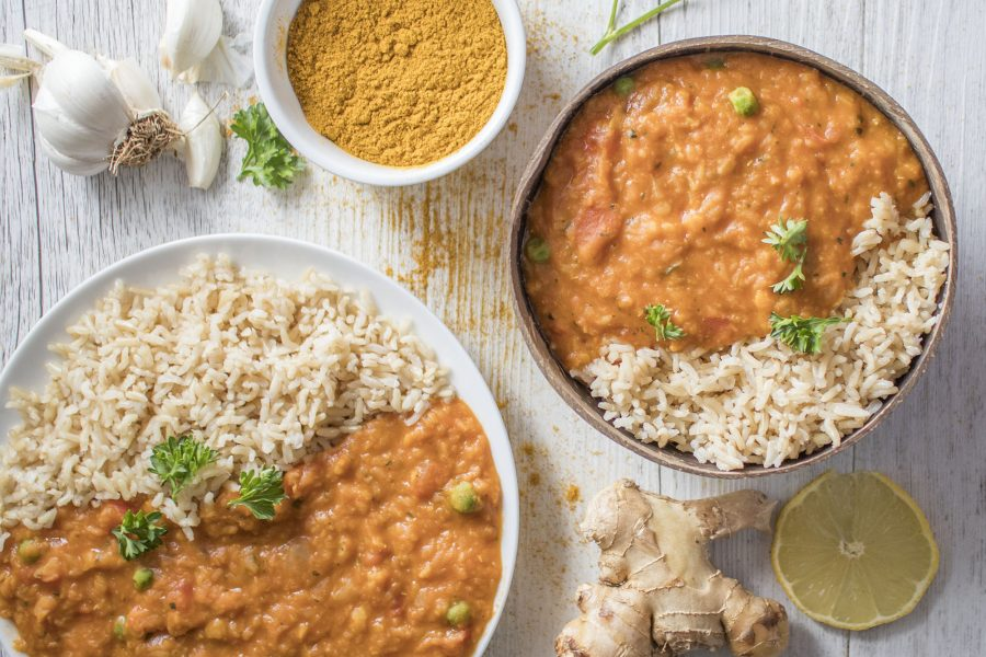 Easy Vegan Red Lentil Dhal