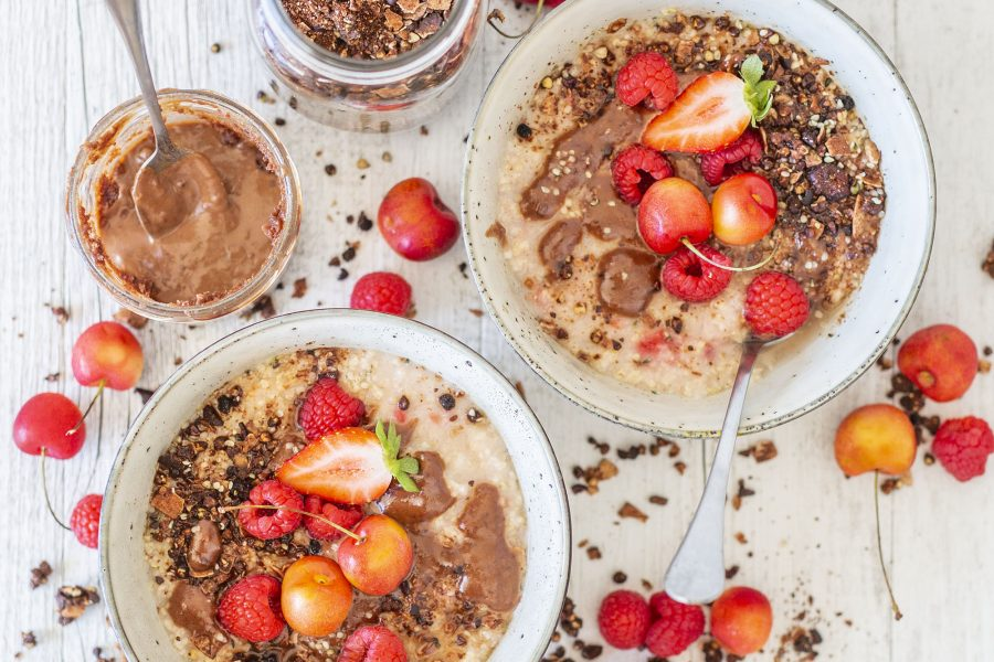 Easy Raspberry Millet Porridge