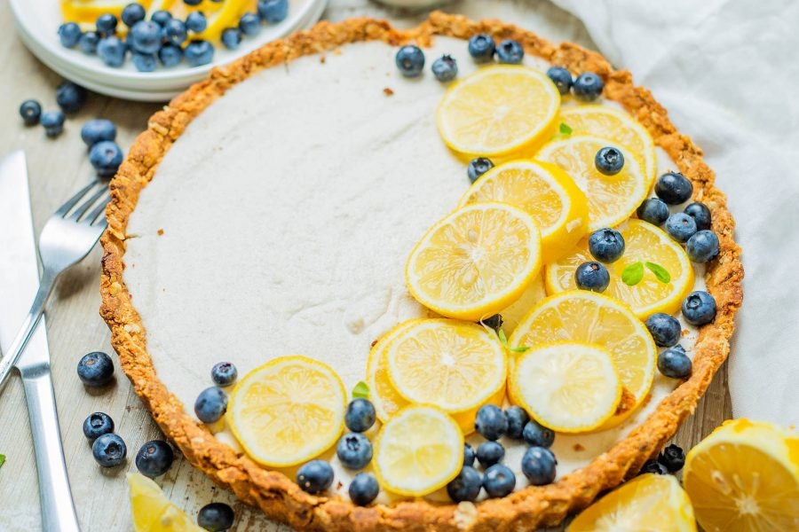 Vegan Lemon Essential Oil Tart