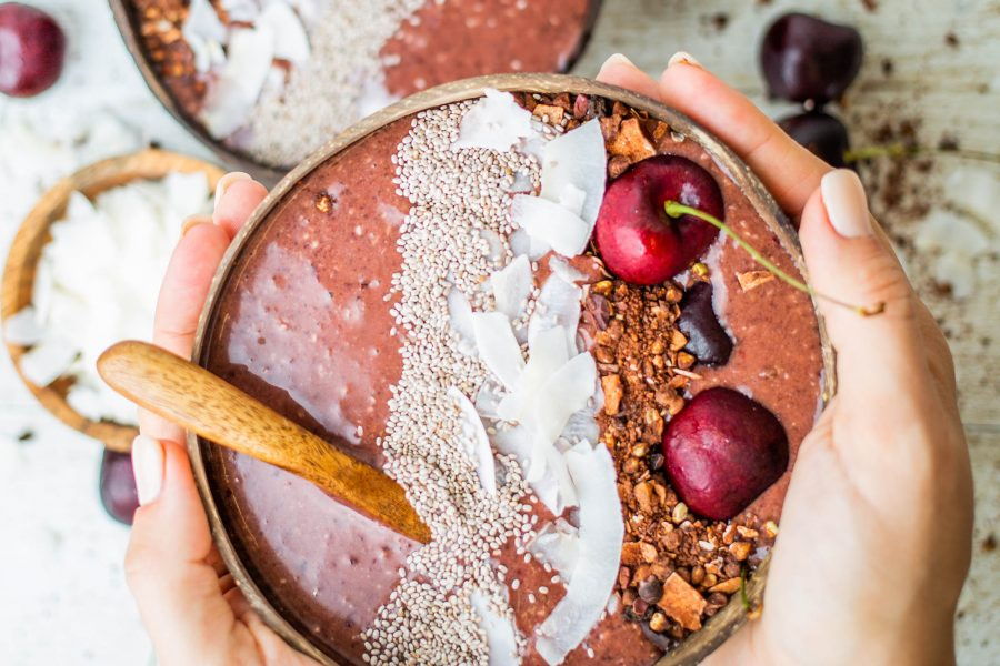 Vegan Cherry Ripe Açai Smoothie Bowl