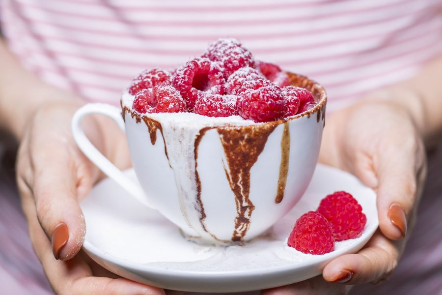 Vegan Chocolate Hazelnut Malt Mug Cakes