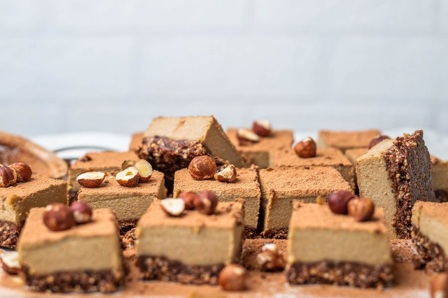 Vegan Hazelnut Mocha Slice – Refined Sugar Free