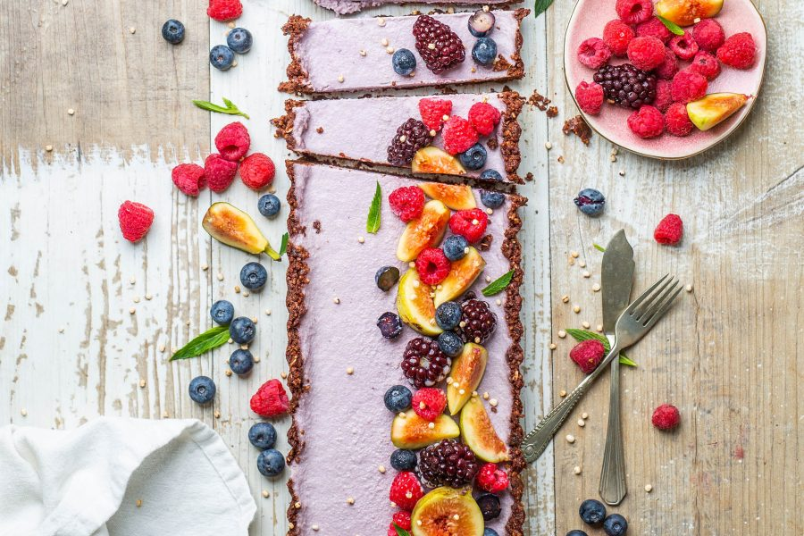 Raw Vegan Chocolate Blackberry Long Tart