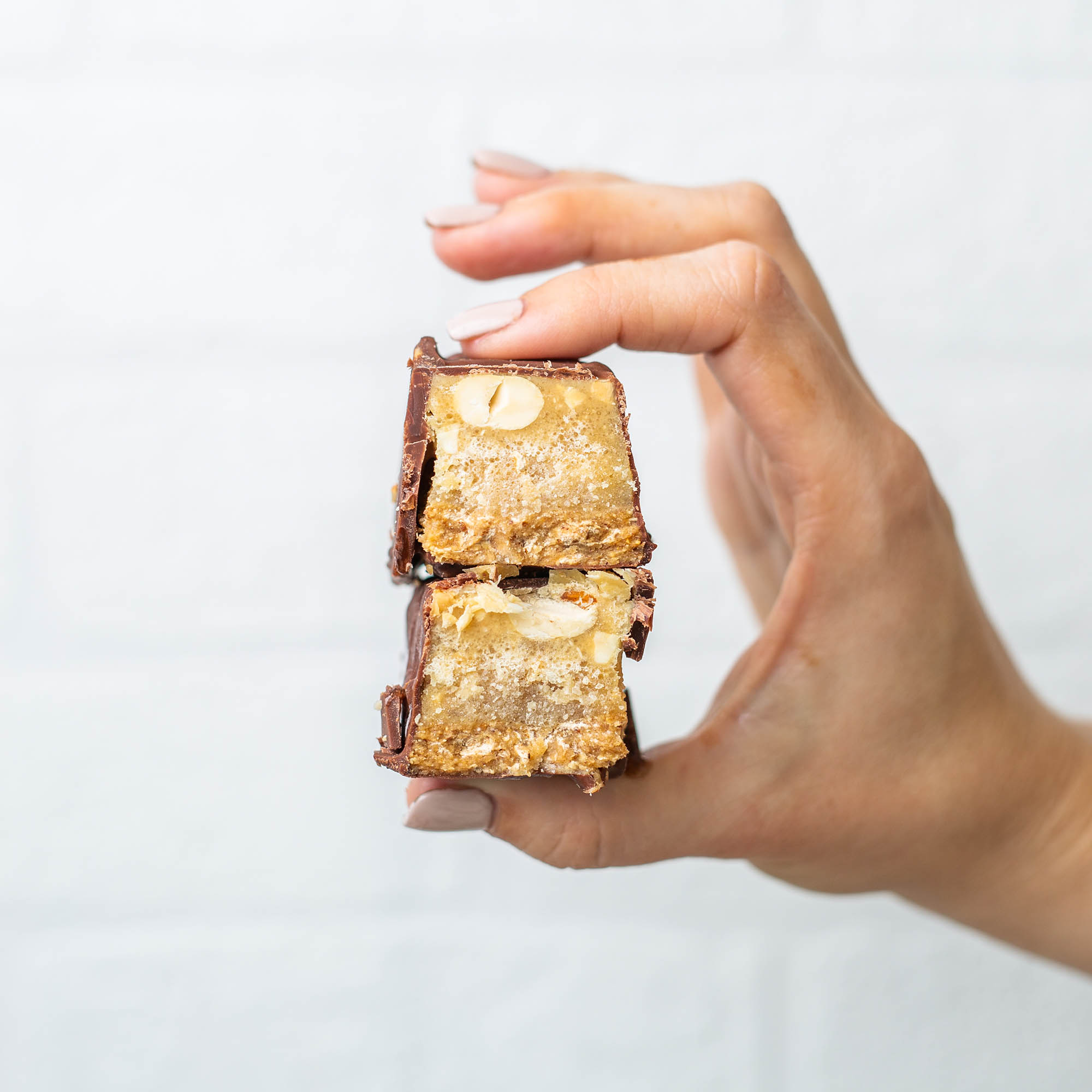 Vegan Low Fructose Chocolate Peanut Butter Snickers Bars