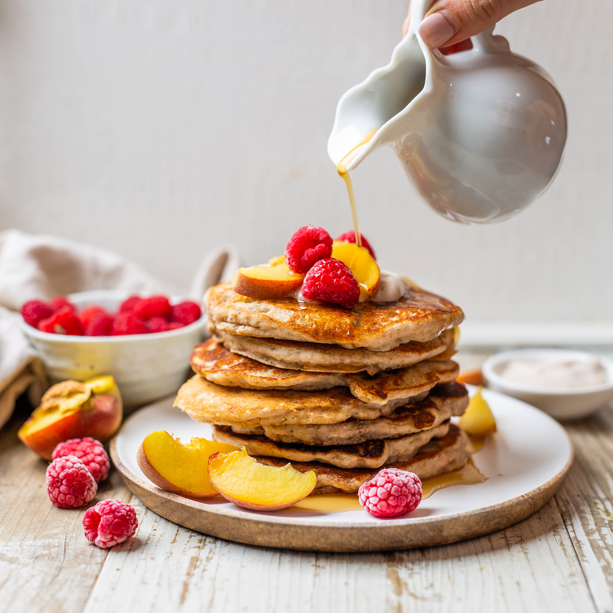 Fluffy Vegan Yogurt Pancakes